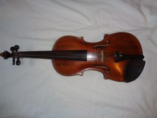 Antique Violin 1800s Reproduction Jakob Reymann London photo