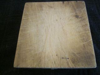 Small Old Much Cutting Board.  Square/primitive.  One photo