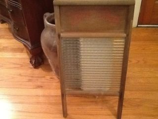 Vintage Two In One Glass Washboard No.  80 Caroline Washboard Company Raleigh Nc photo