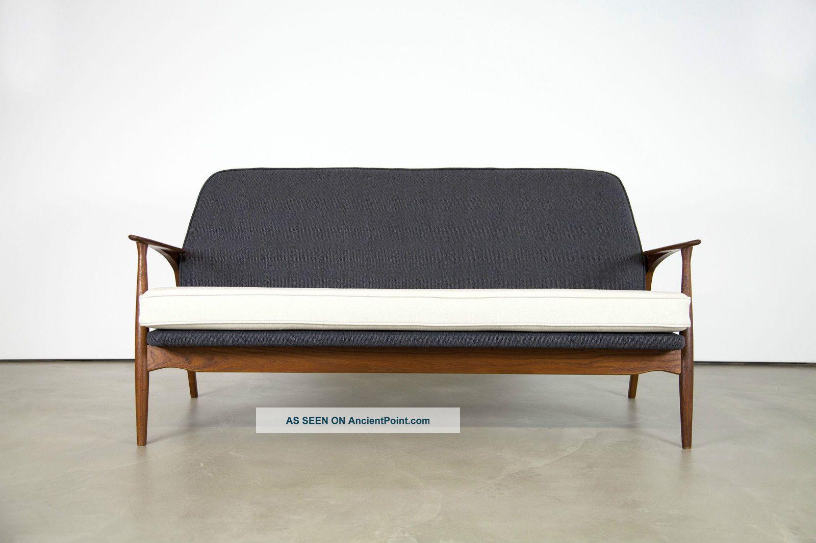 Rare Danish Modern Sofa By Ib Kofod - Larsen For Slagelse | Teak Couch 1900-1950 photo