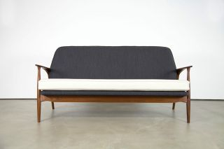 Rare Danish Modern Sofa By Ib Kofod - Larsen For Slagelse | Teak Couch photo