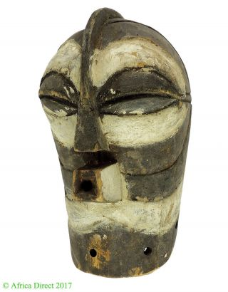 Songye Mask Kifwebe White And Black Congo African Art photo