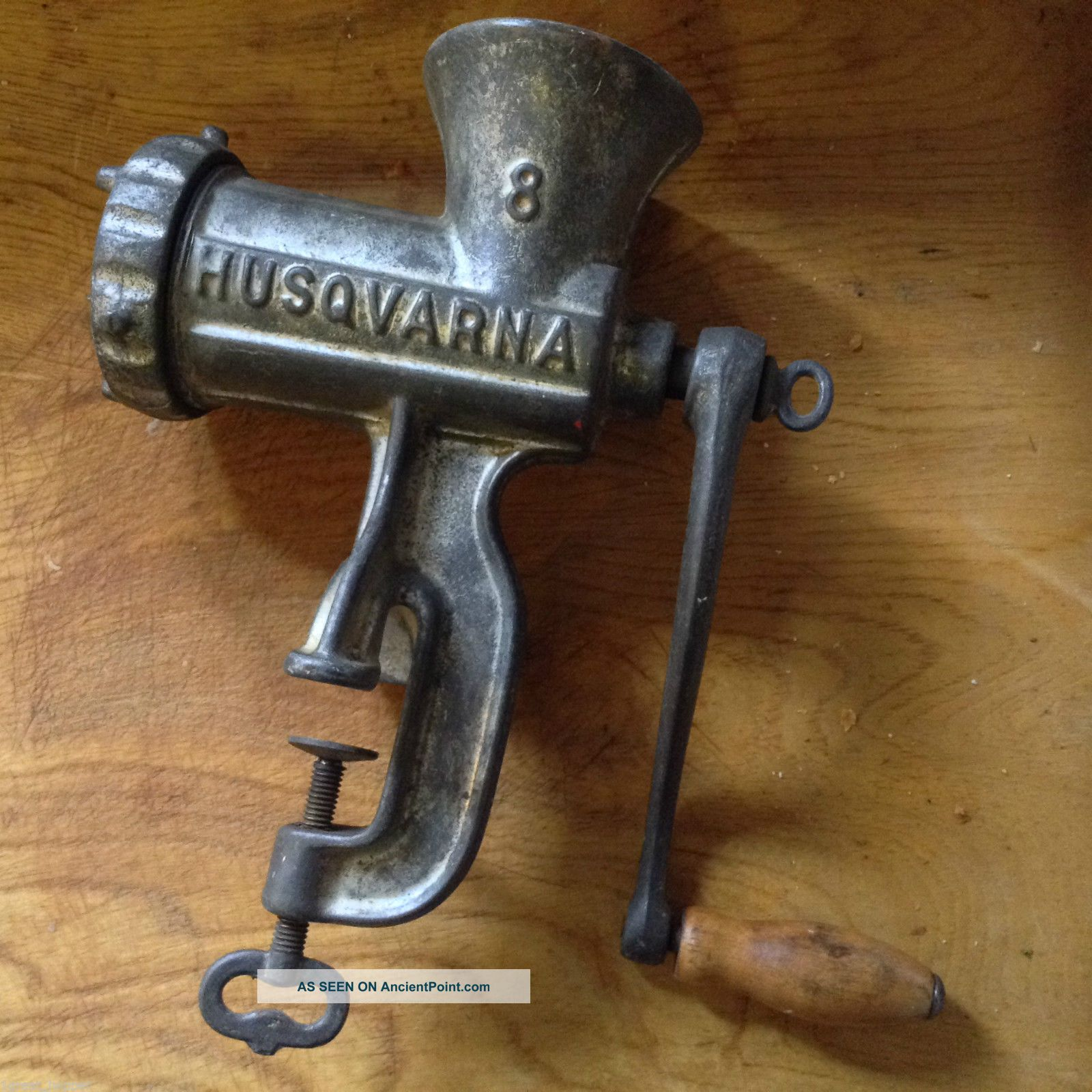 Heavy Duty Vtg Husqvarna Reliance Meat Grinder 8 Sweden Very Heavy Meat Grinders photo