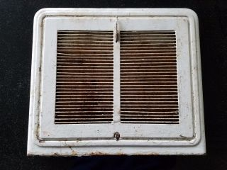 Vtg,  Antique Floor Wall Heater Register Vent Grate Grille Cover; Heavy Metal photo