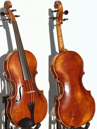 Fine & Unique Antique Violin Labelled Leopold Widhalm,  Nurnberg 1780.  Great Tone photo