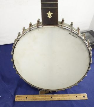 Antique 1890s - 1920s 5 String Open Back Banjo Instrument Weather King photo