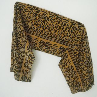 Mali: Tribal African Bogolan Textile - 230 Cm X 48 Cm. photo