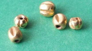 Roman 24k Solid Gold Disc Beads X 5 photo