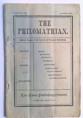 Spiritualism 1903 Occult Science Quack Medicine Mysticism Magic The Philomathian photo