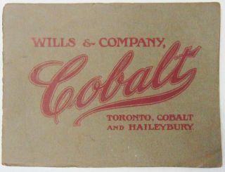 Antique Early 1900s Wills & Co.  Cobalt Mining Cobalt & Haileybury Co.  Brochure photo