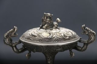 Cpllection Chinese Cupronickel Handwork Lion Incense Burner photo