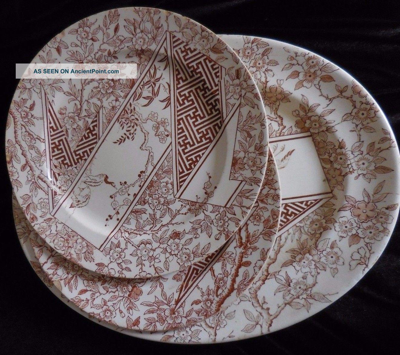 Rare Antique Doulton u0027 S Burslem 1883 Two Plates And Oval Platter Transferware & Rare Antique Doulton u0027 S Burslem 1883 Two Plates And Oval Platter ...