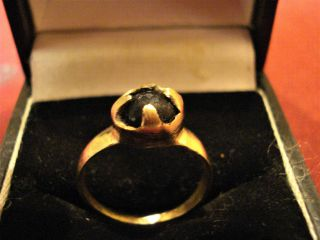 Ancient Roman Ring With Red Stone - - Detector Find photo