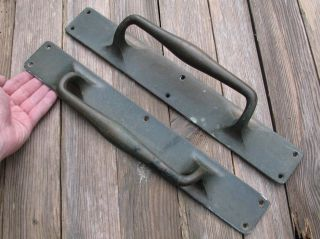 Antique Large Reclaimed Solid Bronze / Brass Door Handle Pulls Shop 15