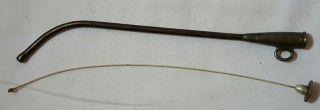 Antique Medical Urethra Instrument Curved Urethrotome photo