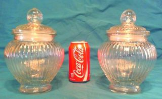 Vintage Large Glass Apothecary Candy Jars,  Old Drug Store,  9