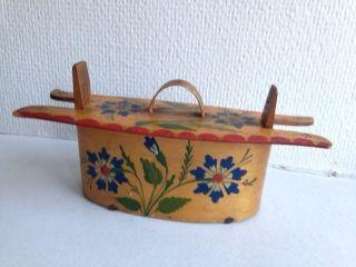 Old Swedish Handpainted And Handmade Wooden Box 1900 - 1915 photo