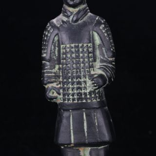 Chinese Antique Bronze Hand Carved Terra Cotta Warriors Statue Gd2672 photo