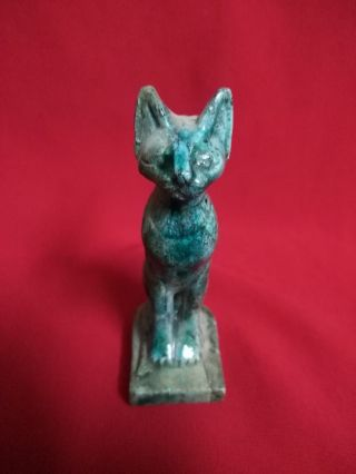 Rare Ancient Egyptian Statue Of God Bastet (945–715 Bc) photo