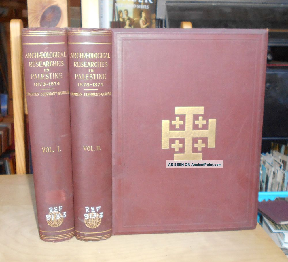 Archaeological Researches In Palestine 1873 - 1874 - Eastern Archaeology 2 Vols Near Eastern photo