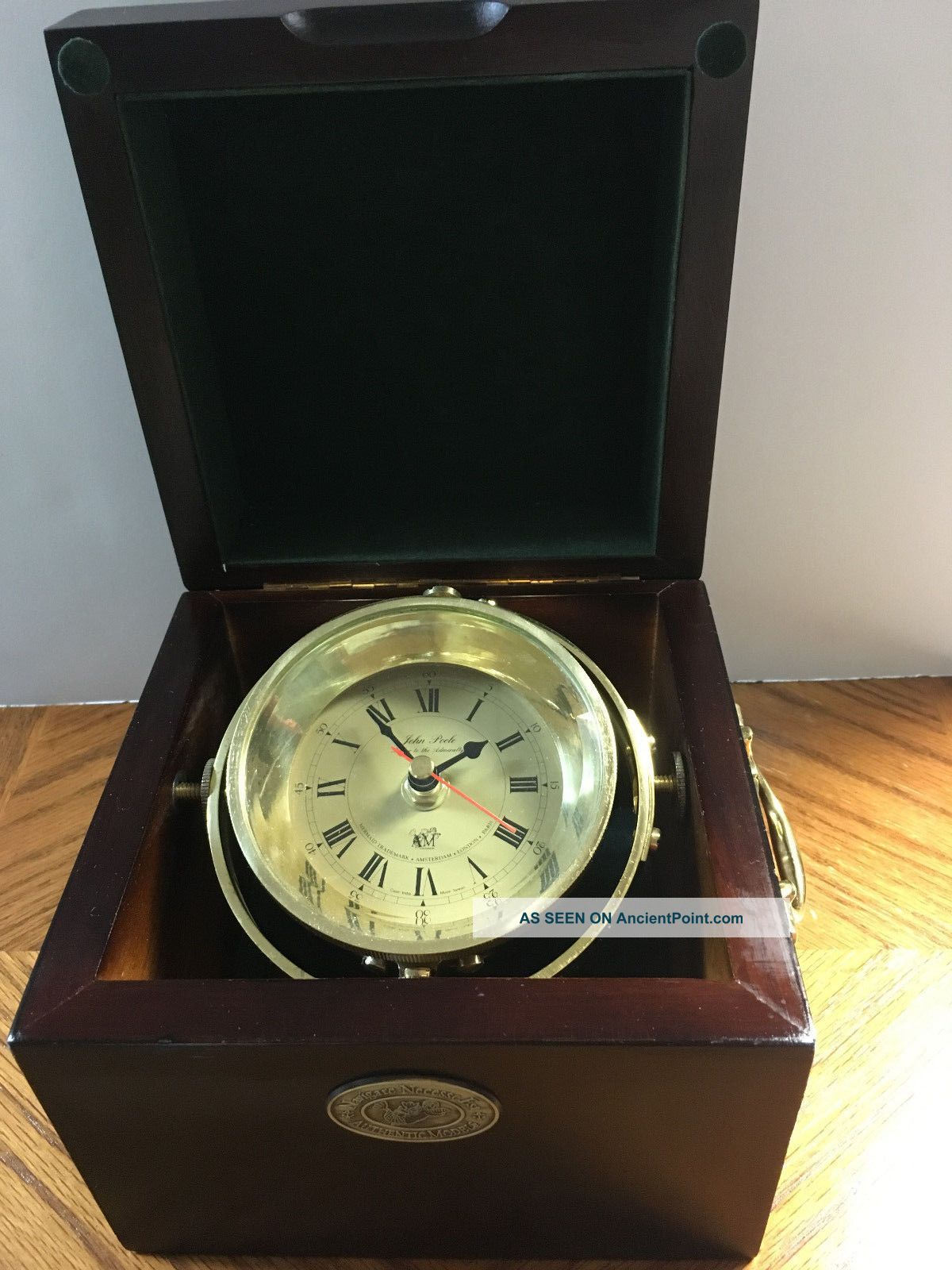Vintage John Poole London Marine Chronometer Clock Clocks photo