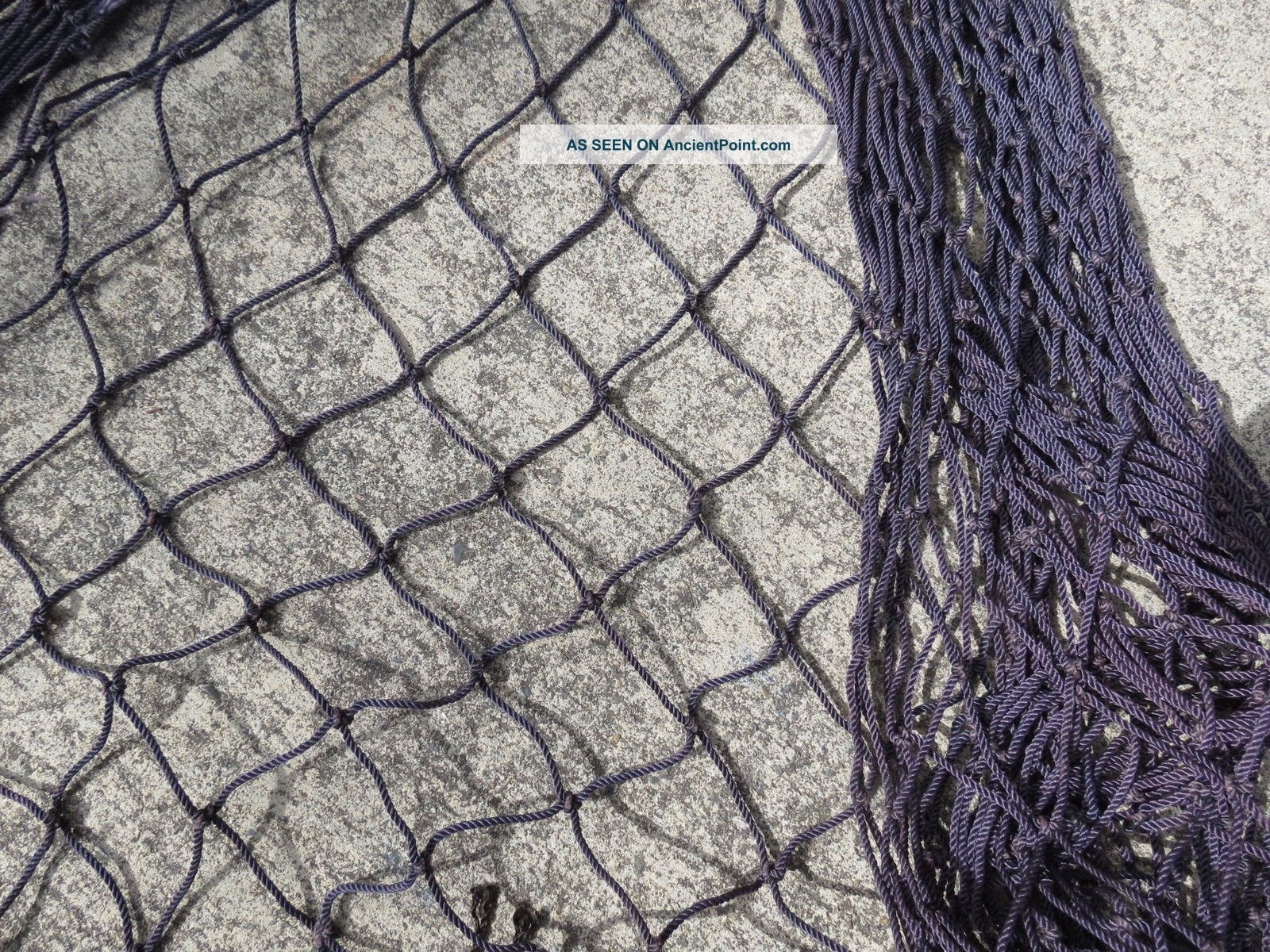 4 Feet X 8 Feet Purple Salmon Alaskan Seine Net Fishing Fish Netting (n278) Fishing Nets & Floats photo