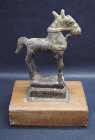 Rare Ancient Roman Bronze Mounted Horse Figurine photo