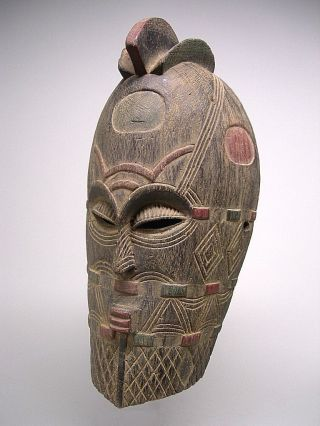 A Fine And Tetela - Tempa Songye Mask From Dem.  Rep.  Of Congo photo