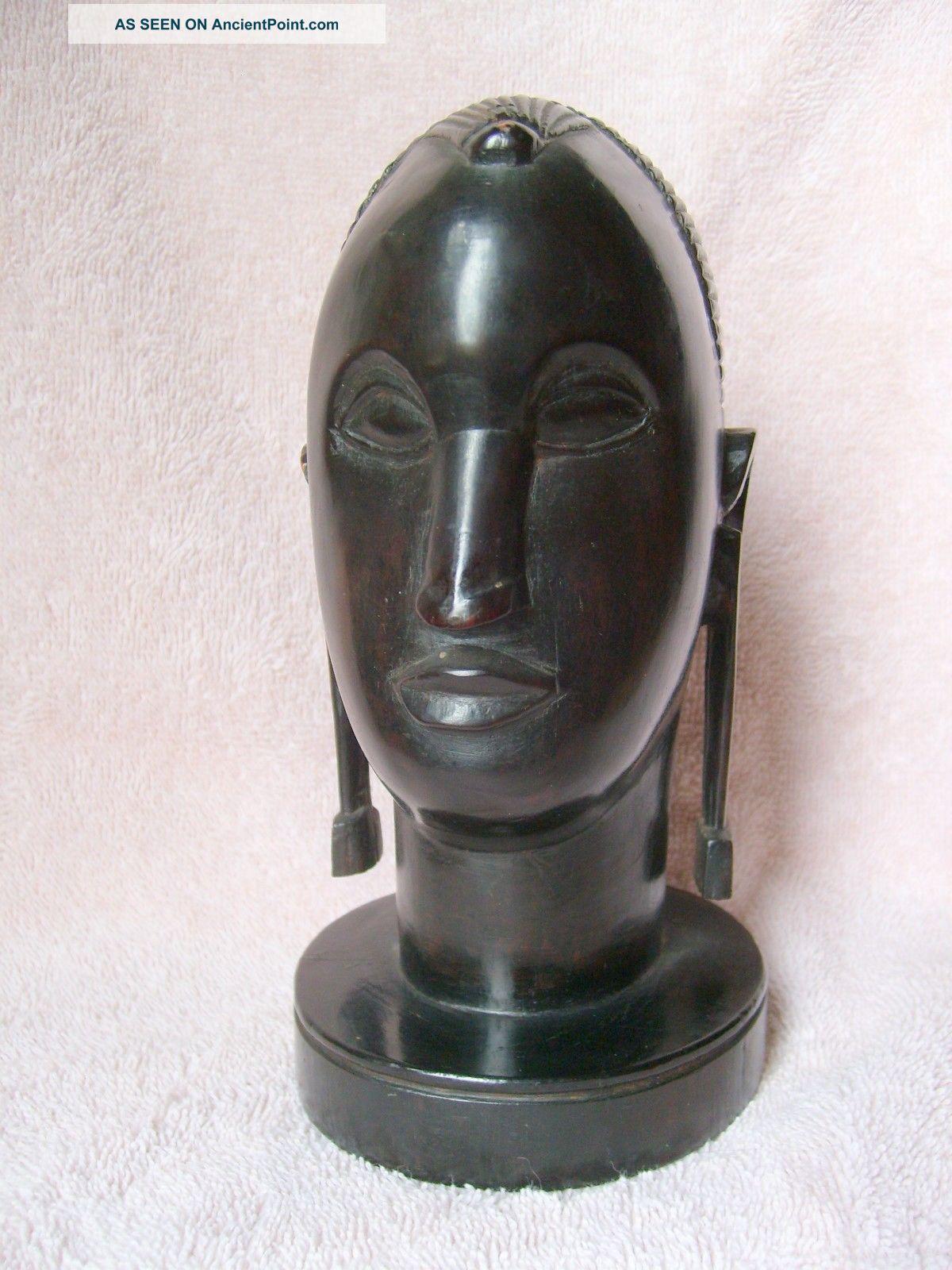 Vintage African Hand Carved Ebony Tribal Sculpture 7