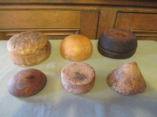 6 Different Old Children Wooden Hat Mold Millenium photo