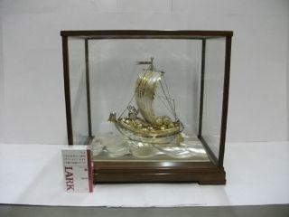 The Silver Japanese Treasure Ship.  421g/ 14.  82oz.  Japanese Antique photo