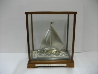 The Sailboat Of Silver970 Of Japan.  71g/ 2.  50oz.  Hideo ' S Work. photo