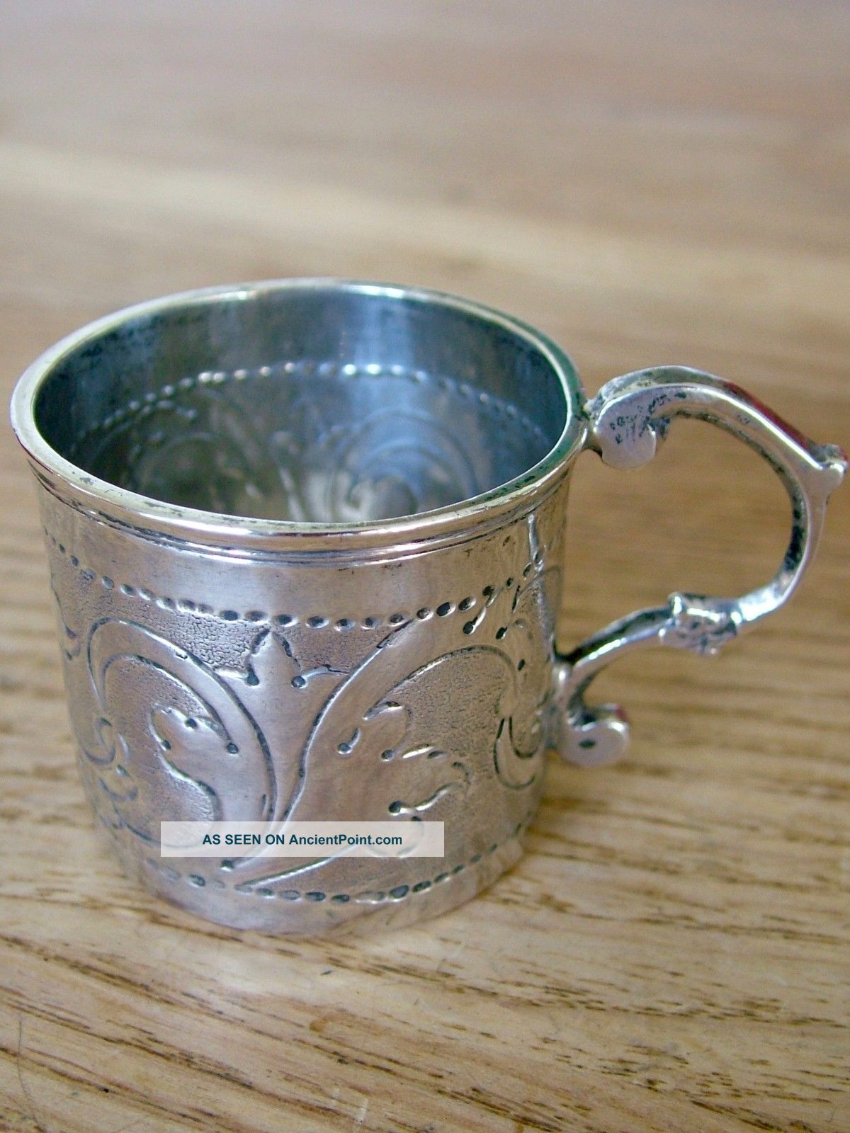 1760 ' S Antique Russian Solid Silver Miniature Cup Tankard Mug Childs Dolls Nr Cups & Goblets photo