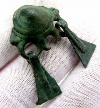 Celtic / Bronze Age Bronze Coiled Pendant / Amulet - Rare Lovely Artifact - D166 photo