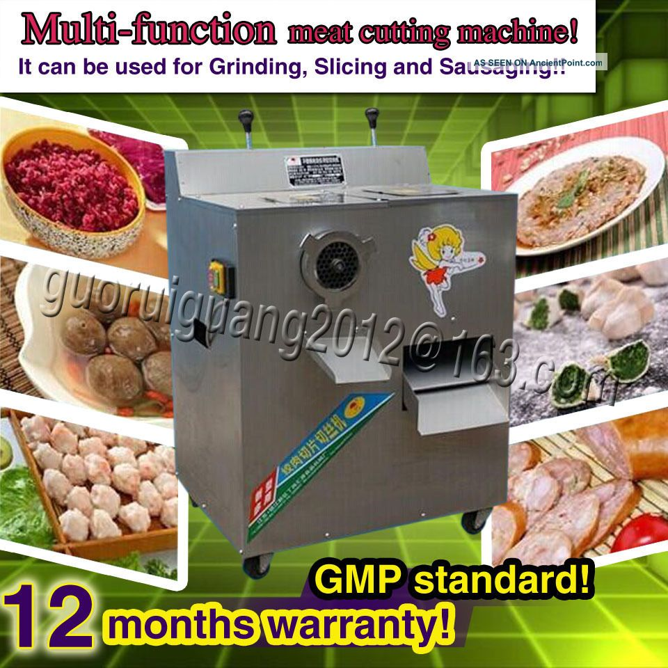 Stainless Steel Meat Slicer Mincer Grinder,  Meat Cutting Machine With Dual Motors Meat Grinders photo