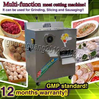 Stainless Steel Meat Slicer Mincer Grinder,  Meat Cutting Machine With Dual Motors photo