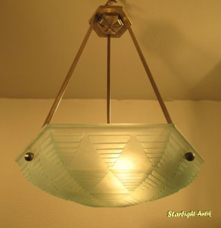 French Art Deco Chandelier 1925/1930 - Signed: H.  Petitot France photo