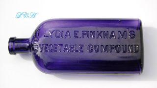 Rare Purple Antique Lydia Pinkham Quack Medicine Cure Compound photo