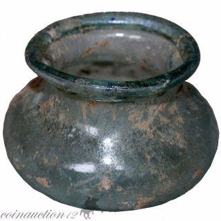 Museum Quality Roman Glass Hemispherical Medicine Cup 100 - 200 Ad photo