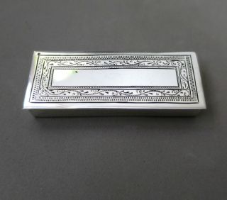 Lovely Sterling Solid Silver Hinged Pill/ Snuff Box Hallmarked photo