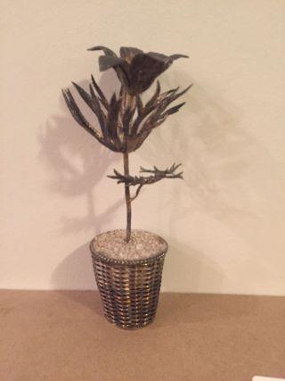 Sterling Silver Tiffany &co Poppy Flower Vase 1970 Janna Thomas Taxco Mexico photo