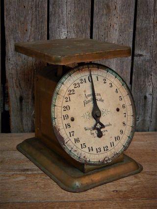 Antique Primitive Rustic Kitchen Scale Farm House photo