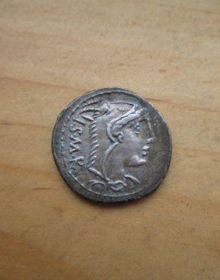 Ancient Thorius Balbus 105 B.  C Juno Bull Ar Denarius Silver Coin Roman Republic photo