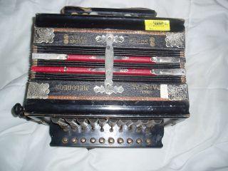 C1930 German Made Parsifal Button Accordion Melodeon Accordian Ok photo