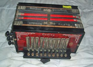 C1930 German Made Dudley Button Accordion Melodeon Accordian Ok photo