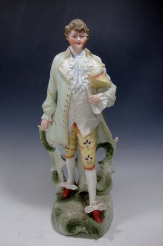 Bisque Porcelain Figurine Gentleman - 13