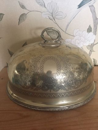 Vintage Mappin & Webb Princes Silver Plate Decorative Meat Cloche photo