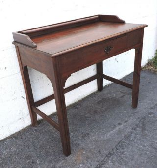 Early 1900s Small Solid Wood Writing Desk Table 8242 photo