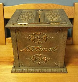 Antique National Cash Register Ncr Receipt Ticket Box - Patina photo