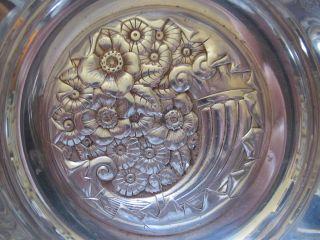 Antique Silver Plate Bowl,  Hartford Silverplate,  Repousse,  Art Nouveau,  1882 photo